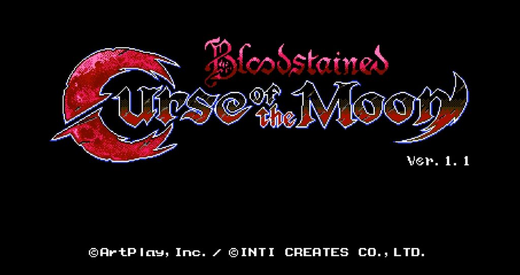 Bloodstained: Curse of the Moon Title Screen