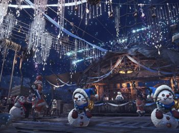 Monster Hunter World Winter Lobby